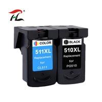 YLC repuestos de 1set PG510 CL511 pg510 cl511 cartucho de tinta Compatible para Canon MP280 MP480 MP490 MP240 MP250 MP260 MP270 IP2700 impresora