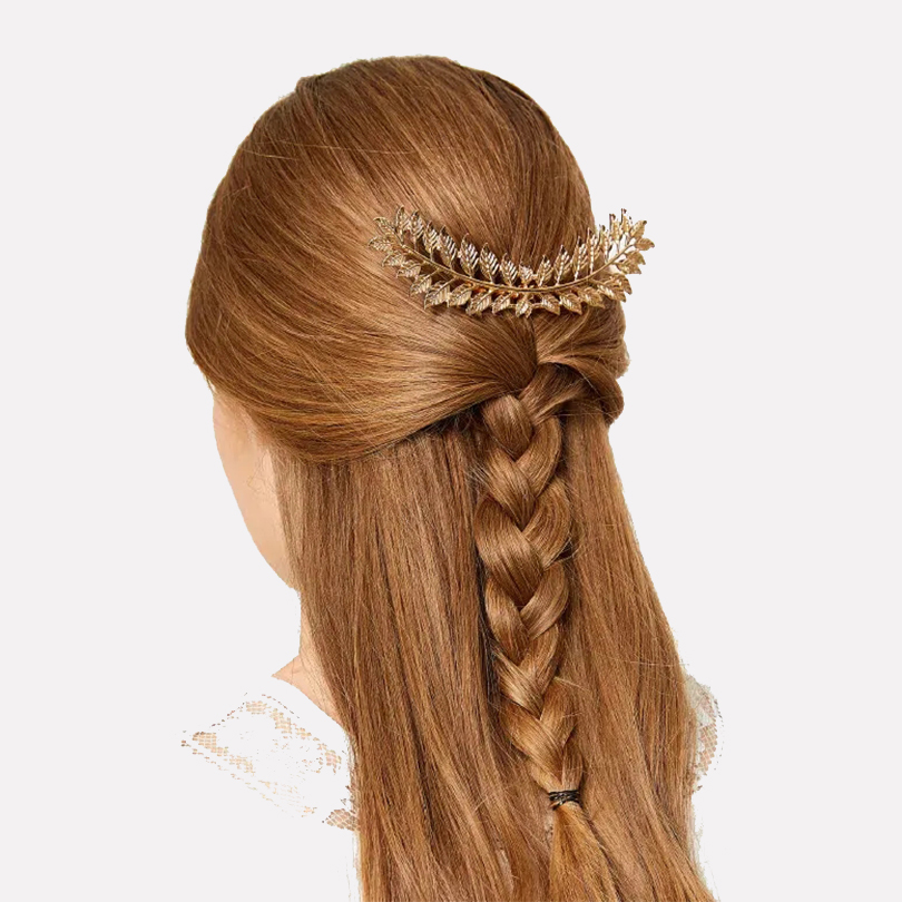 Double Layer Exquisite Crystal Leaf Flower Hair Accessories Hair band Headwear