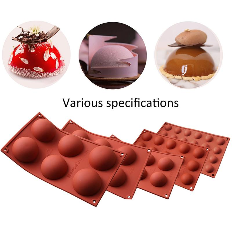 Круглая форма для десерта DIY Декор шар сферическая силиконовая форма для торта кондитерские изделия выпечка шоколадконфеты помадка посуда ...