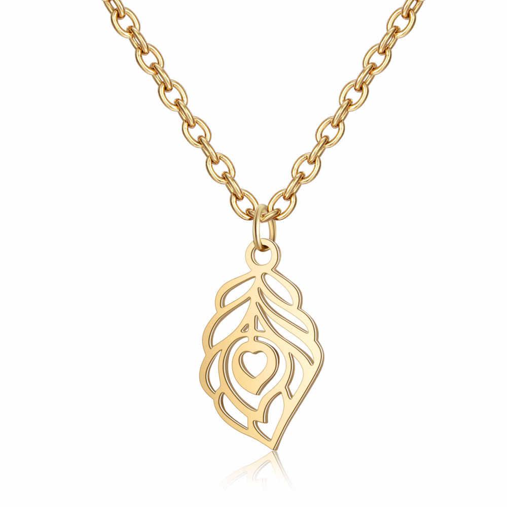 Acier inoxydable 316L collier or femmes bijoux ras du cou 40cm + ange plume collier Lotus Chakra coeur étoile Fatima jamais changer