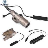 Wadgn Airsoft sureir M300 Mini luz de exploración PEQ-15 LA5C IR láser rojo de doble Control interruptor de presión aumentada linterna táctica