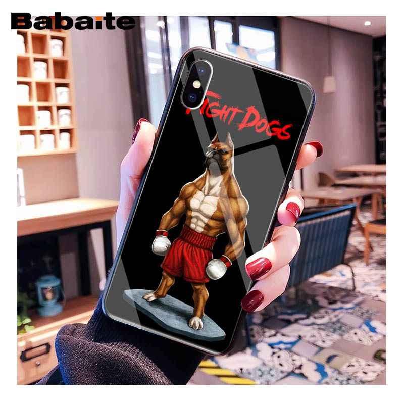 Babaite Pit Bull güzel Pet köpek Pitbull temperli cam telefon kılıfı için iphone 11 Pro XS MAX XR 8X7 6S 6 artı