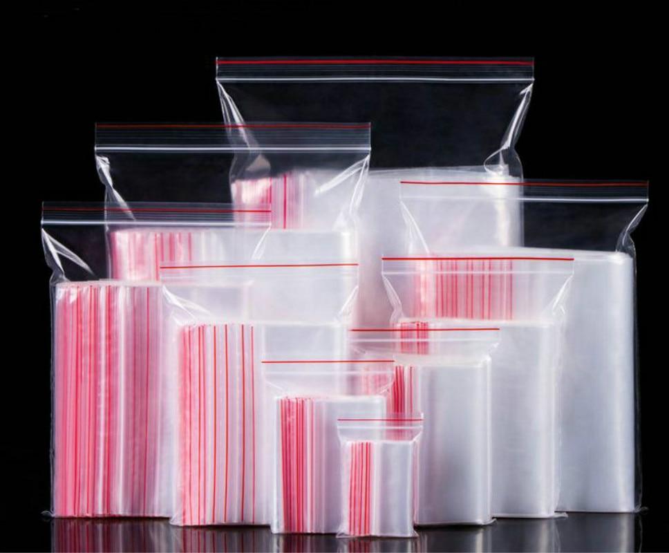 100 Pcs 4*6cm-12*17cm Cellophane OPP Poly Bags Transparent Storage Bag Ziplock Zip Zipped Lock Reclosable Food&Cosmetics,socks