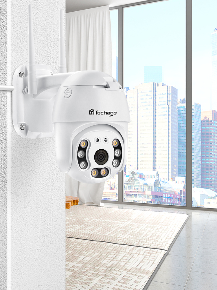 Techage Wifi-Camera Speed-Dome H.265X CCTV 1080p Ptz Outdoor Waterproof Home Audio Two-Way
