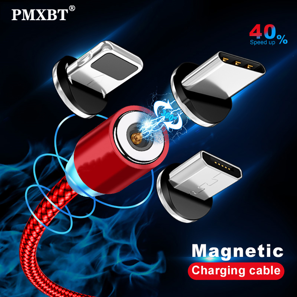 Magnetic Charging Cable Micro USB TypeC Cable Mobile Phone Cord For Samsung Android Fast USB Magnet Charger Cable For iPhone 11