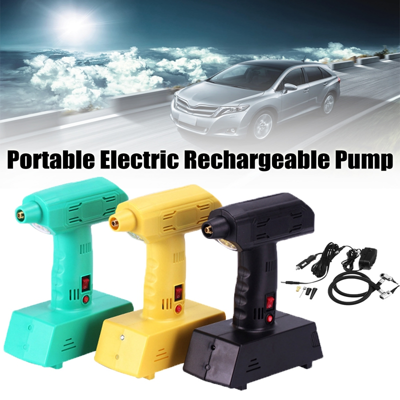 12V Air Compressor Portable Electric Rechargeable Pump Cordless Power