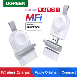 Ugreen relógio inteligente carregador para apple assistir carregador série 5 4 3 portátil mfi usb carregador para apple 3 magnético de carregamento sem fio