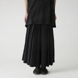 Wysoki elastyczny pas czarny bandaż długie spodnie z szerokimi nogawkami nowy luźny krój spodnie kobiety moda fala wiosna jesień 2020