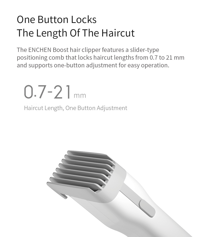 Xiaomi ENCHEN Boost USB Electric Hair Clipper Two Speed Ceramic Cutter Hair Fast Charging Hair Trimmer Children Hair Clipper 1