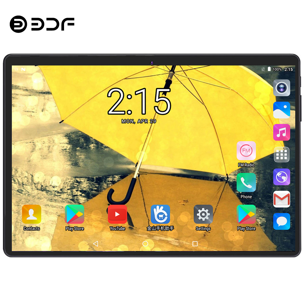 BDF 2019 New 10 Inch Tablet Pc 10/Deca Core 8GB RAM 128GB ROM Android 9.0 Dual SIM Cards 3G/4G LTE WiFi Bluetooth Pc Tablet 10.1 image