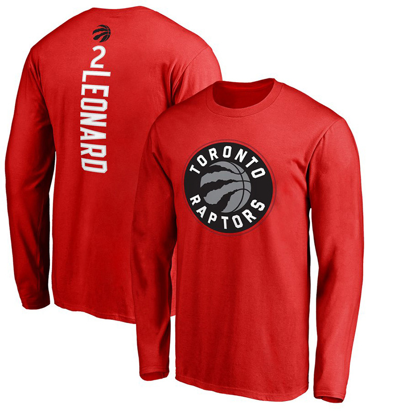 2019 Autumn New Style NBA Raptors Leonard/Lowry Crew Neck Long-sleeved T-shirt Support Teams image