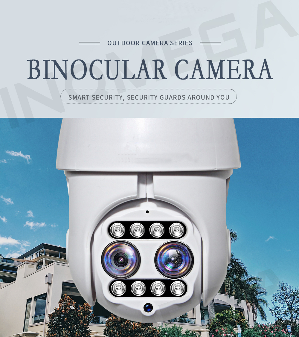 1080P PTZ IP Camera Dual-Lens Wifi Outdoor Speed Dome  Wireless Wifi Security Camera Pan Tilt 4X Digital Zoom Onvif IR Camera