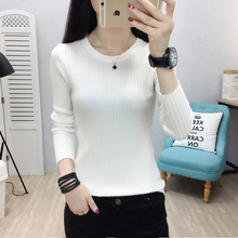 Winter Knitting Sweater Pullovers Women Long Sleeve Tops Round Neck Knitted Chic Woman Elastic Clothes Female Casual Streetwear