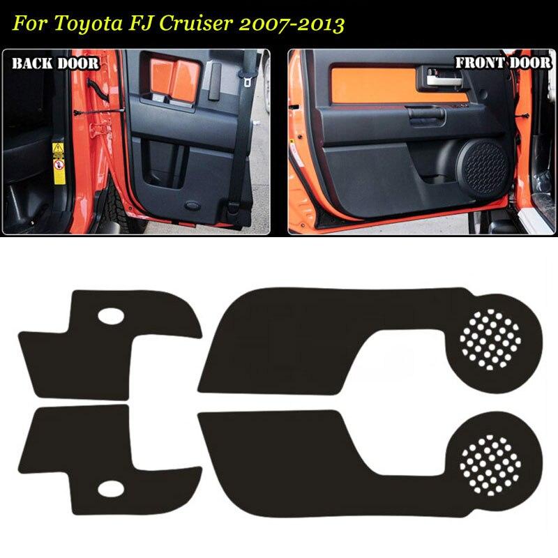 4 шт интерьерные 3D Двери из углеродного волокна боковой край анти-удар защитная накладка Наклейка для Toyota FJ Cruiser 07-2013 title=