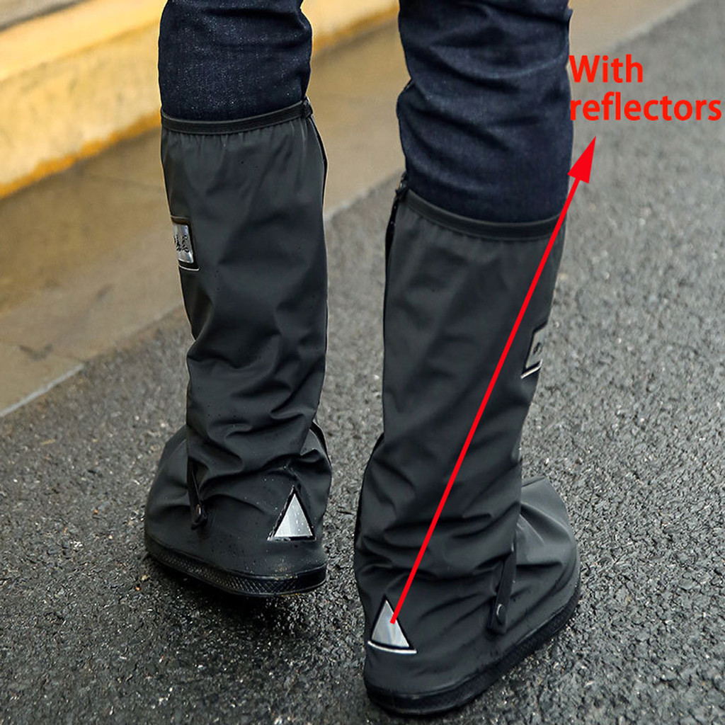 Women Men's Outdoors Rain Shoes Covers Waterproof Motorcycle Cycling Bicycle Scootor Non-slip Boots Overshoes Rainproof Reusable