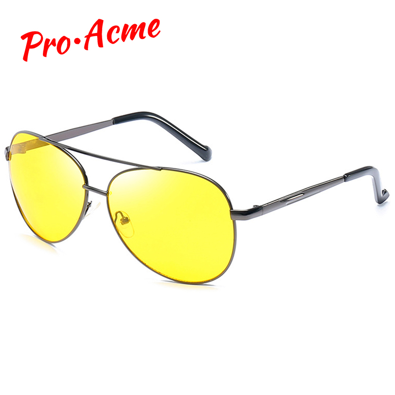 Pro Acme Classic Pilot Night Vision Glasses Driving Yellow Lens Vision Driver Glasses For Men CC0101 1