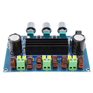 Image 5 - Bluetooth 5.0 TPA3116D2 Digital Power Amplifier Board 2.1 Channel 2*50W+100W Stereo Power Audio Class D Bass Subwoofer Amplifier