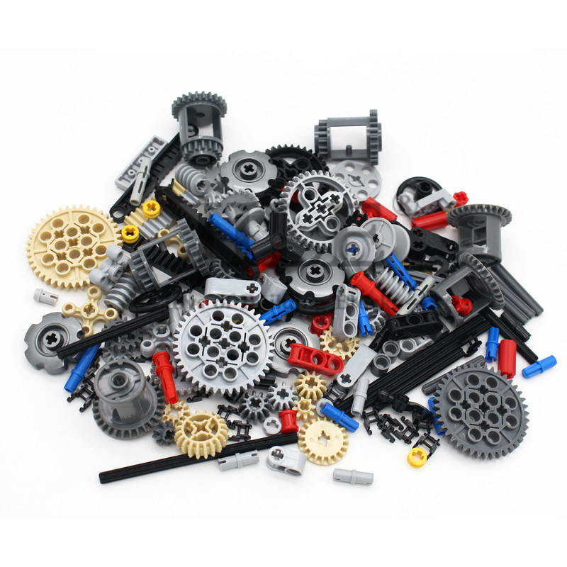 Technic Parts Bulk Gear Cross Axle Pin Lift Arms Conector Car Beam Sets Compatible With Mindstorms Building Bricks Blocks Toys
