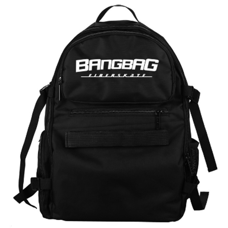 Students Bags Backpack Skateboard-Bags Double-Rocker-Bags Oxford Black