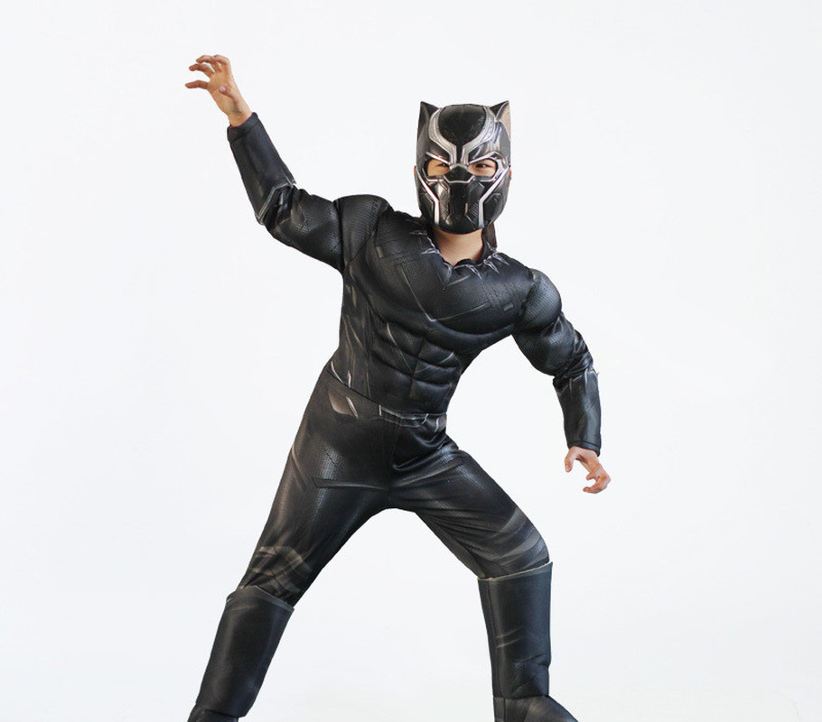 Latest 3D Stereo Panthers Avengers 3 Super Hero Children's Performance Tight Muscle Costume Halloween Cosplay Anime Costume
