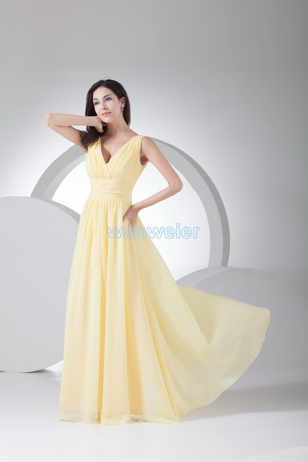 Free Shipping Formal Gowns 2016 Party Dresses Pregnant Women Vestidos Dress Dinner Long Plus Size Yellow Bridesmaid Dresses