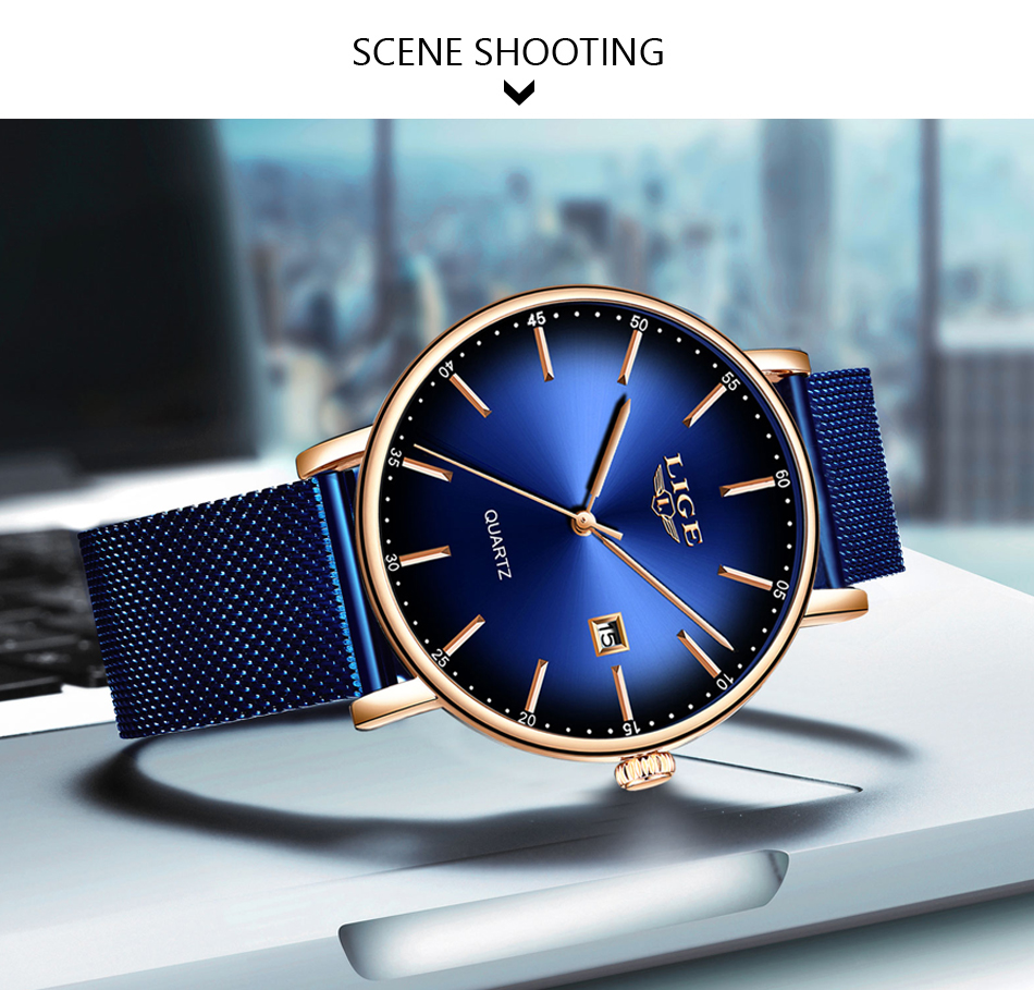 Haf157be29eed4519a2d6aff5d892a182Z LIGE Fashion Mens Watches Top Brand Luxury Blue Waterproof Watches Ultra Thin Date Simple Casual Quartz Watch Men Sports Clock