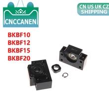 1 ชุด BKBF10 BKBF12 BKBF15 คงที่ลอยปลายรองรับแบริ่ง Mounts สำหรับชิ้นส่วน CNC