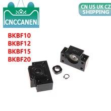 1 セット BKBF10 BKBF12 BKBF15 固定浮かべボールねじエンドがサポートベアリングマウント cnc 部分