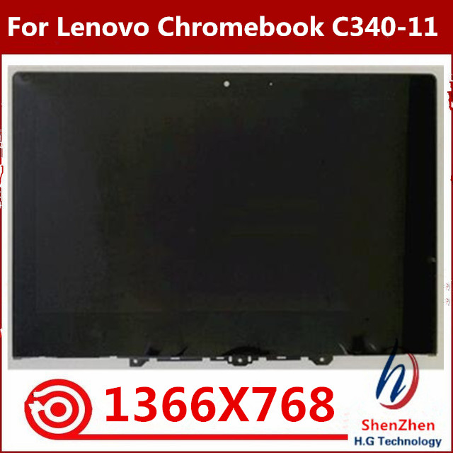 Test well For Lenovo Chromebook C340 C340-11 Laptop LCD Screen Assembly 11.6 inch HD (1366 X 768) NV116WHM-T00
