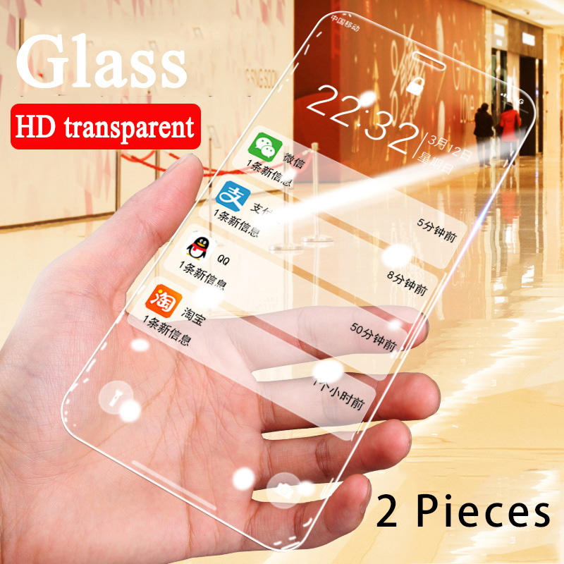 2 Pieces Protective Glass For IPhone 7 8 6 6S Plus 5 4 11 Pro Tempered Glass 9H HD Screen Protector For IPhone 11 XS Max X XR