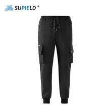 SUPIELD Aerogel الباردة المقاومة مسعور البضائع السراويل الصلبة أسود السراويل الرجال النساء أزياء الشارع الشهير وينر الدافئة السراويل