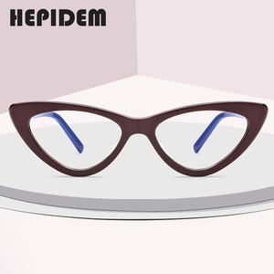 Image 2 - Acetate Optical Glasses Frame Women Brand Designer Cat Eye Prescription Eyeglasses New Fors Ladies Cateye Spectacle Eyewear