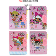 LOL Surprise Dolls Password Lock Notebook To Protect Privacy Mood Diary 80 Pages 4 Styles Paper Format 19*13.3cm Gifts for Girls