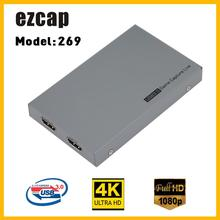 Ezcap269 1080P HD Video Gioco Capture Box per Live Video Supporto 4K Video di Ingresso e di Uscita di Ingresso MIC gamepad Ingresso Audio