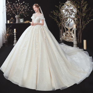 Image 2 - Beading Appliques Lace Short Sleeve High Waist Princess Ball Gown Wedding Dress For Pregnancy Brides Plus Size Aliexpress Login
