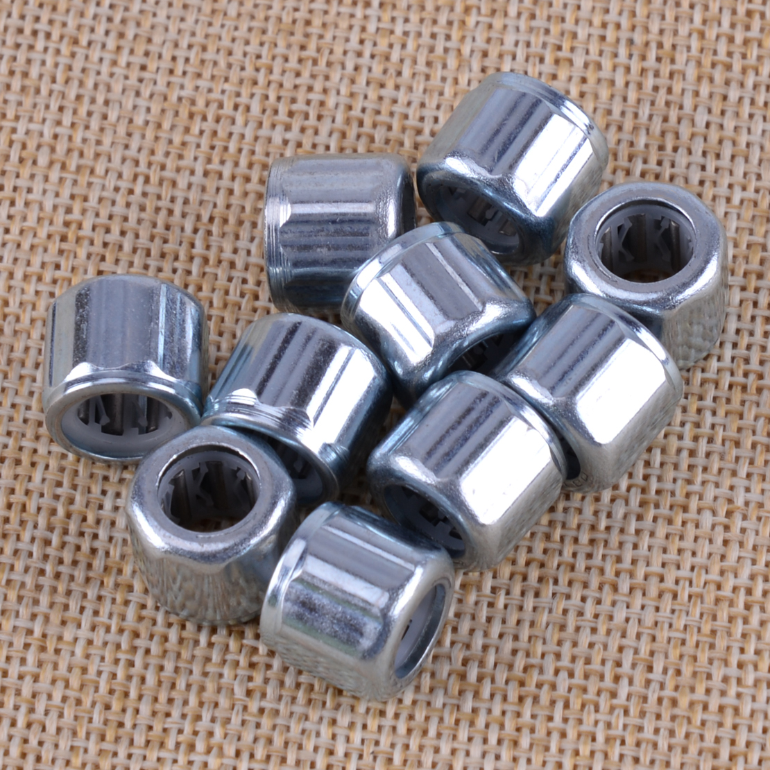 LETAOSK 10PCS Silver Octagonal One Way Clutch Bearing Needle Roller 1.4x0.8x1.2cm Fit For EasyMop HF081412 Replacement