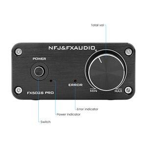 Image 3 - FX Audio FX502SPRO Digital High Power Amplifier HIFI 2.0 Home Mini Professional Amp TPA3250 NE5532 80W *2 4 8Ohm With Power Plug