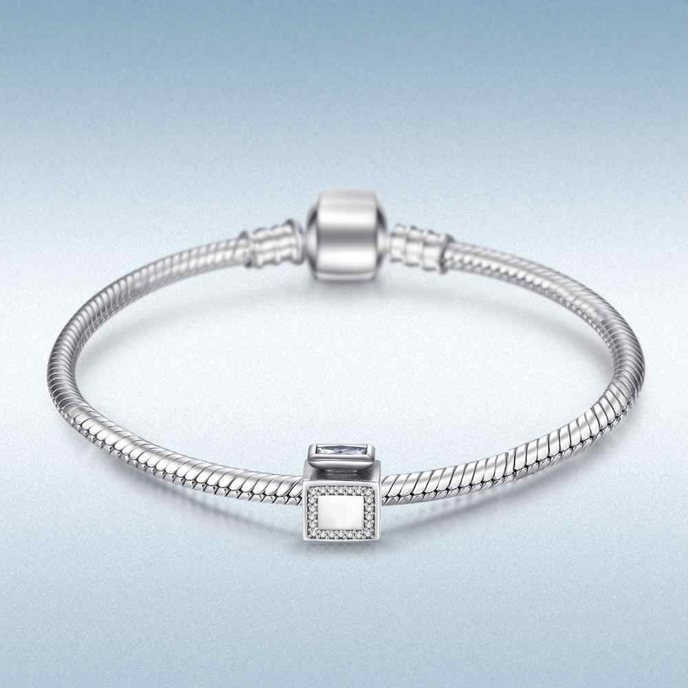 Jewelrypalace 925 srebro perfumy butelka sześciennych cyrkonie Charms Fit bransoletki prezenty dla niej biżuteria prezent