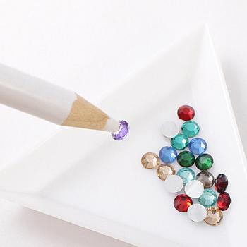 DIY Nail Art Rhinestones Jewelry Picking Dotting Tool Wax Pencil Pen Picker