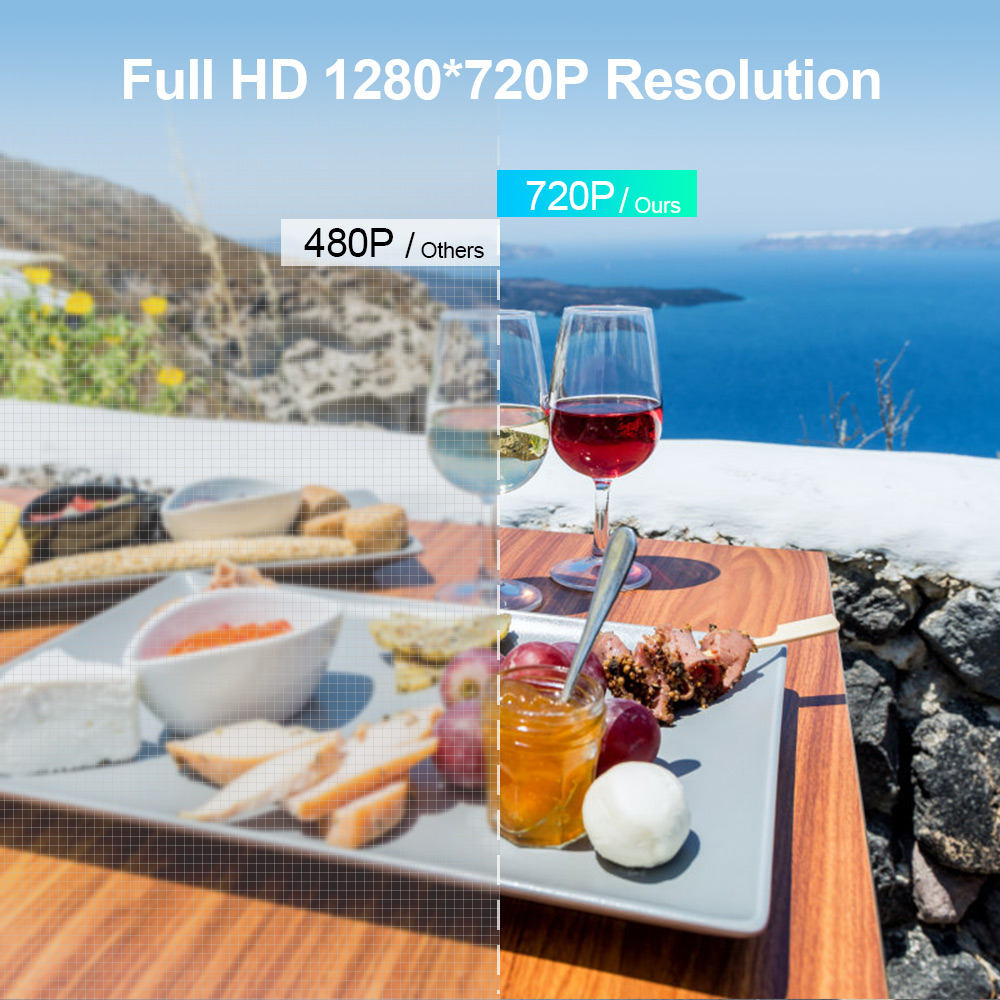 Image 3 - CRENOVA 2019 The Best Sale Android Video Projector C8 1280*720P Native Resolution With WIFI Bluetooth Home Cinema Movie Beamer-in LCD Projectors from Consumer Electronics