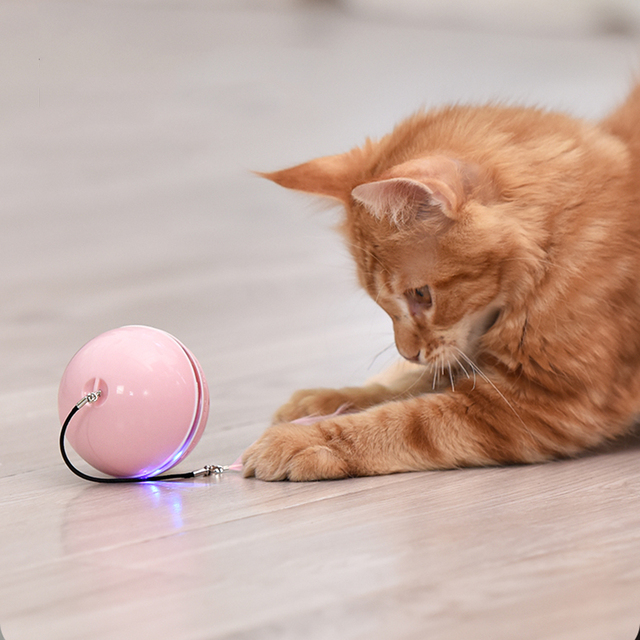 Smart Interactive Cat Toy - Colorful LED Self Rotating Ball With Catnip 5