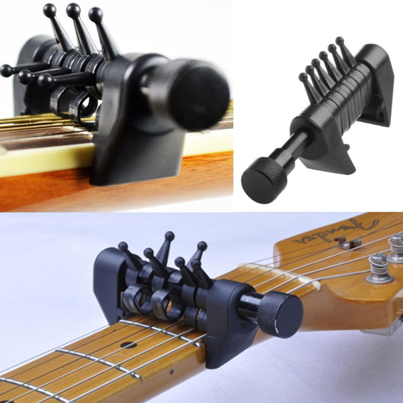 Multifunction Clamp Clip Capo Open Discrete Tuning Chords For Acoustic Electric Guitar Q6PB