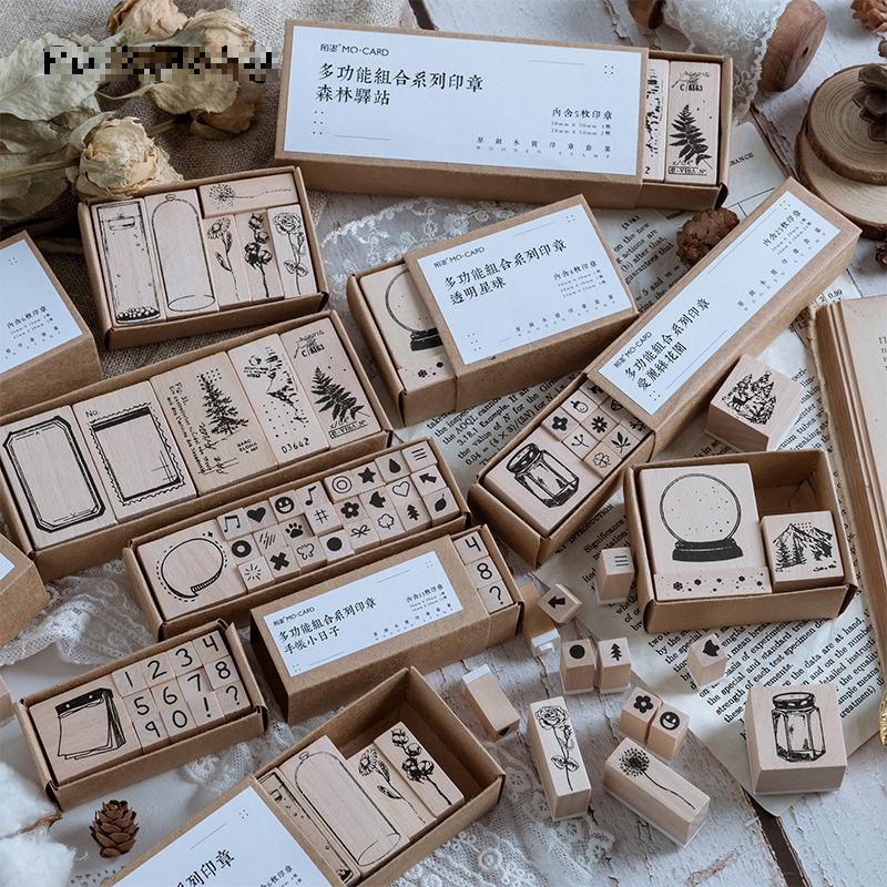 Vintage Specimens Of Plants Wood Stamp 1 Set DIY Craft Wooden Rubber Stamps For Scrapbooking Diary Scrapbooking Standard Stamp