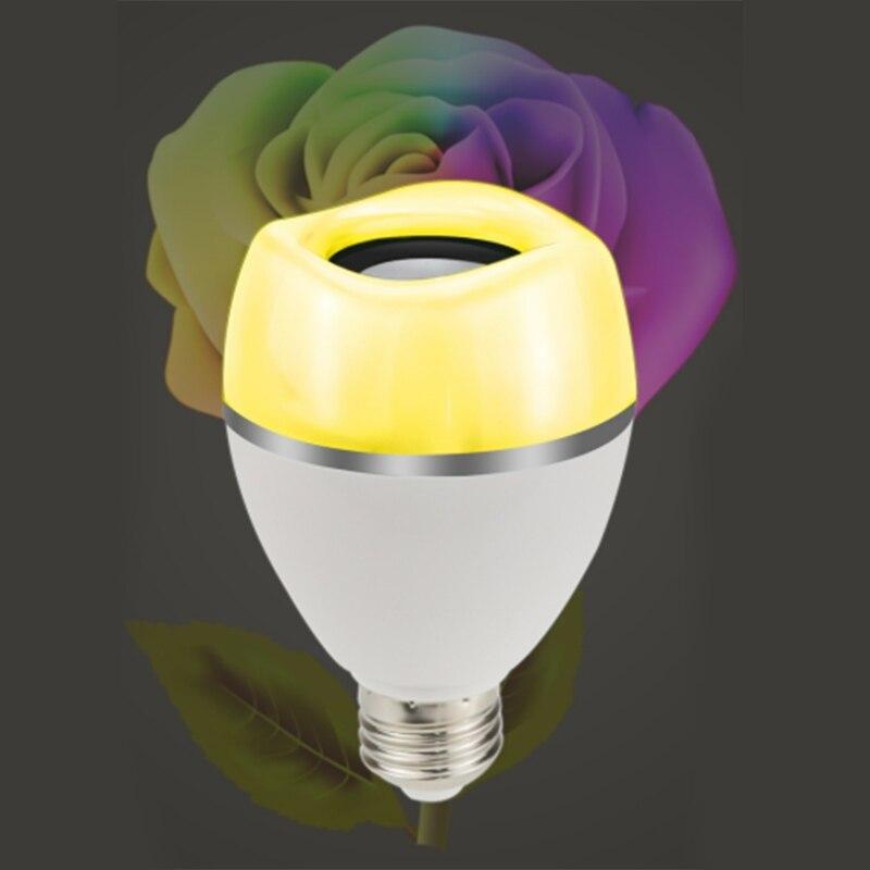 Nouveau LED Bluetooth ampoule haut-parleur, ampoules de musique, 9W E27 RGB lampe changeante avec contrôle APP-jouer de la musique de manière synchrone