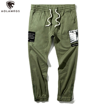 Aolamegs Pants Men Side Patch Cargo Trousers For M