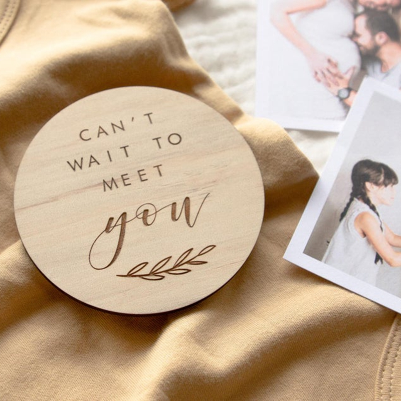 Can't Wait To Meet You Baby Announcement Pregnancy Announcement Milestone Card