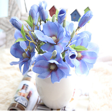 2PCs 37cm Fake Silk Magnolia Artificial Flowers Ivy Vine Hanging Garland Decor  For Home Wedding Decoration цены
