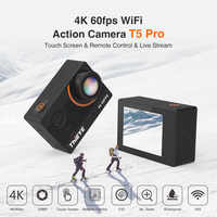 Thieye Real 4K camera Ultra HD T5 Pro With Live Stream Action Camera Gyro Stabilizer Remote Control Underwater 60m Sport Camera