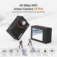 Thieye Reale macchina fotografica 4K Ultra HD T5 Pro Con Streaming In Diretta di Azione Della Macchina Fotografica Gyro Stabilizzatore Telecomando Subacquea 60m Macchina Fotografica di Sport