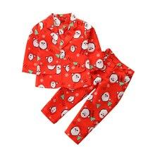 Новая детская одежда из 3 предметов наряд для маленьких мальчиков Рождественский детский костюм штаны с длинными рукавами+ галстук+ блейзеры костюм Санта Клауса со снежинками